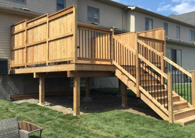 Custom deck with privacy fence