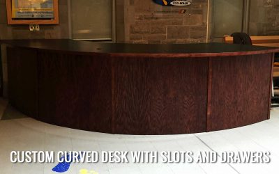 Custom Curved Reception Desk