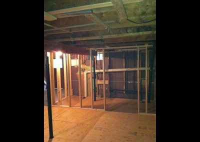 Structural support in a basement